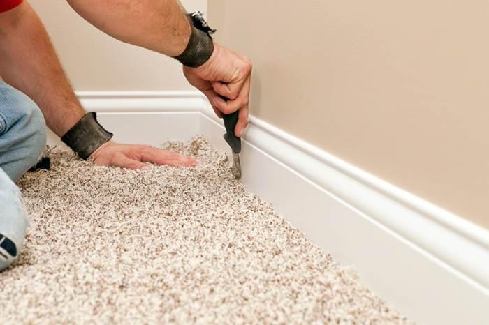 baseboard or carpet